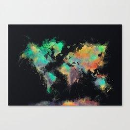 world map 107 #worldmap #map Canvas Print