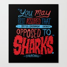 Opposed to Sharks Canvas Print