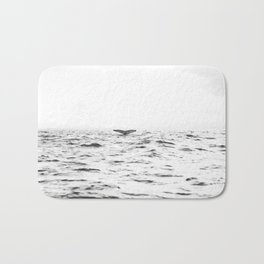 WHITE - SEA - WAVES - WATER - WHALE - NATURE - ANIMAL - PHOTOGRAPHY Bath Mat