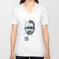 broken V-neck T-shirts featuring Broken by Mike Handy Art