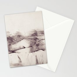 Lying on the bed. Nude studio Stationery Cards