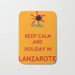 Keep Calm and Holiday in Lanzarote Bath Mat