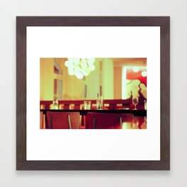 bar chair Framed Art Print