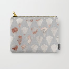 Rose gold marble pattern Carry-All Pouch