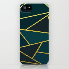 The Color of Teal And Gold iPhone Case