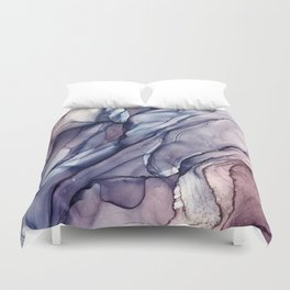 Slate Purple and Sparkle Flowing Abstract Duvet Cover