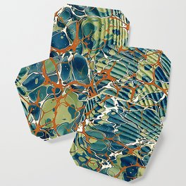 Old Marbled Paper 05 Coaster