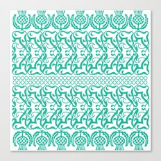 Lace pineapple pattern Canvas Print