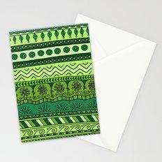 Yzor pattern 003 green Stationery Cards
