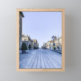 Cold Day in Vieux Montreal Old Town Framed Mini Art Print
