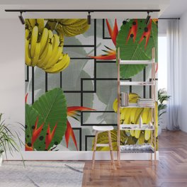 Tropical Squares Wall Mural