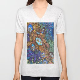 """Crystallized Hive"" Art Print Unisex V-Neck"