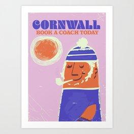 Cornwall vintage travel poster Art Print