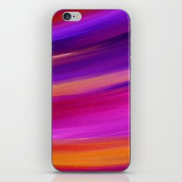 PINK AURORA - Abstract Sky Oil Painting iPhone Skin