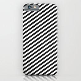 minimal diagonal black and white iPhone Case