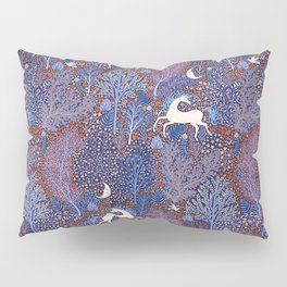 Unicorns in a nocturnal Forest Pillow Sham