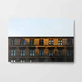 Surface Tension: Dumbarton Road, Glasgow Metal Print