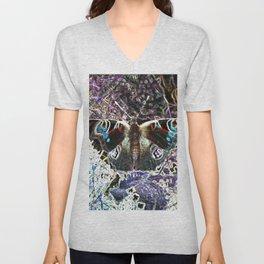 Pixelated Butterfly Unisex V-Neck