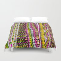 bright Duvet Covers featuring Bright by Laura Maxwell