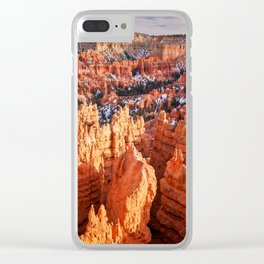 Sunset Point at Bryce Canyon Panorama Clear iPhone Case