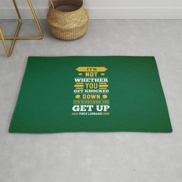 Lab No.4 - It's Not Whether You Get Knocked Down Inspirational Quotes Poster Rug