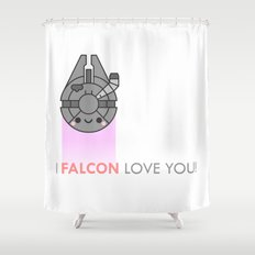 i FALCON love you Shower Curtain
