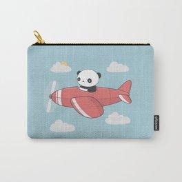 Kawaii Cute Panda Flying Carry-All Pouch