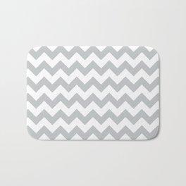 Light Grey Chevron Pattern Bath Mat