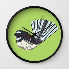 Fantail origami Wall Clock