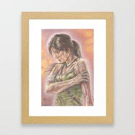 Miss Croft Framed Art Print