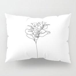 Plant one line drawing illustration - Marah Pillow Sham