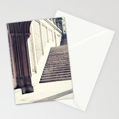 New York, NYC, Central Park arches on black and white II Stationery Cards