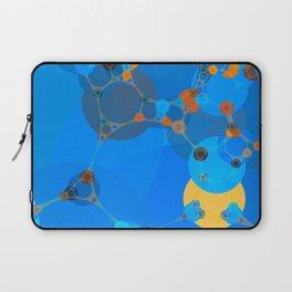 ariana - bright abstract design of orange blue yellow and aquamarine Laptop Sleeve