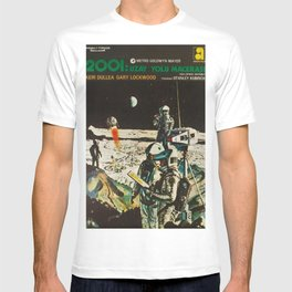2001 A Space Odyssey 1968 Turkish Lobby Broadside Vintage Film Poster T-shirt