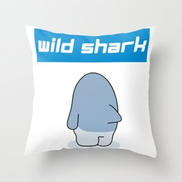 Caution Widler Shark Joke Throw Pillow