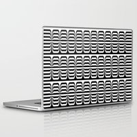 techno Laptop & iPad Skins featuring Techno Zebra by Lyle Hatch
