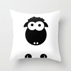 Minimal Sheep Throw Pillow