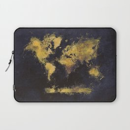 world map 65 yellow Laptop Sleeve