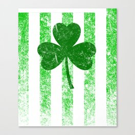 Distressed Green Shamrock for St Patricks Day Canvas Print