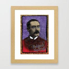 Rudyard Kipling Framed Art Print