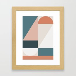 Cirque 01 Abstract Geometric Framed Art Print