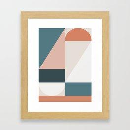 Cirque 01 Abstract Geometric Framed Art Print