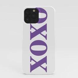 Purple XOXO iPhone Case