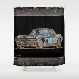 1967 Stingray Shower Curtain