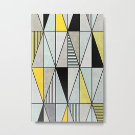 Colorful concrete triangles Metal Print