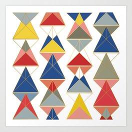 Triangular Affair Art Print