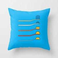 Throw Pillows featuring Simpsodyne by John Tibbott
