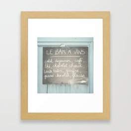 Le Bar a Vins - France Framed Art Print