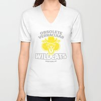 the royal tenenbaums V-neck T-shirts featuring Obsolete Vernacular Wildcats (Royal Tenenbaums) by Tabner's