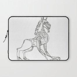 Wendigo Crouching Doodle Art Laptop Sleeve